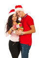Happy Xmas couple holding presents - PhotoDune Item for Sale