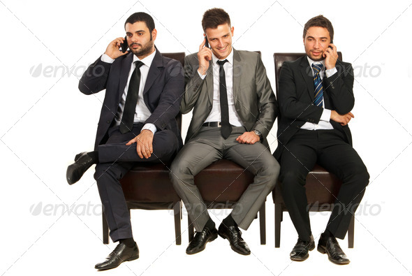 PhotoDune Business men on the phones 4204823