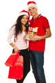 Cheerful young Christmas couple - PhotoDune Item for Sale