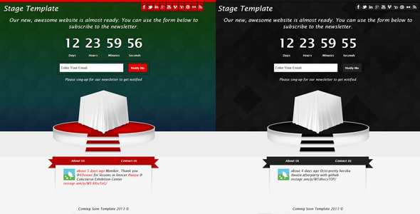 Stage - Responsive Coming Soon Template