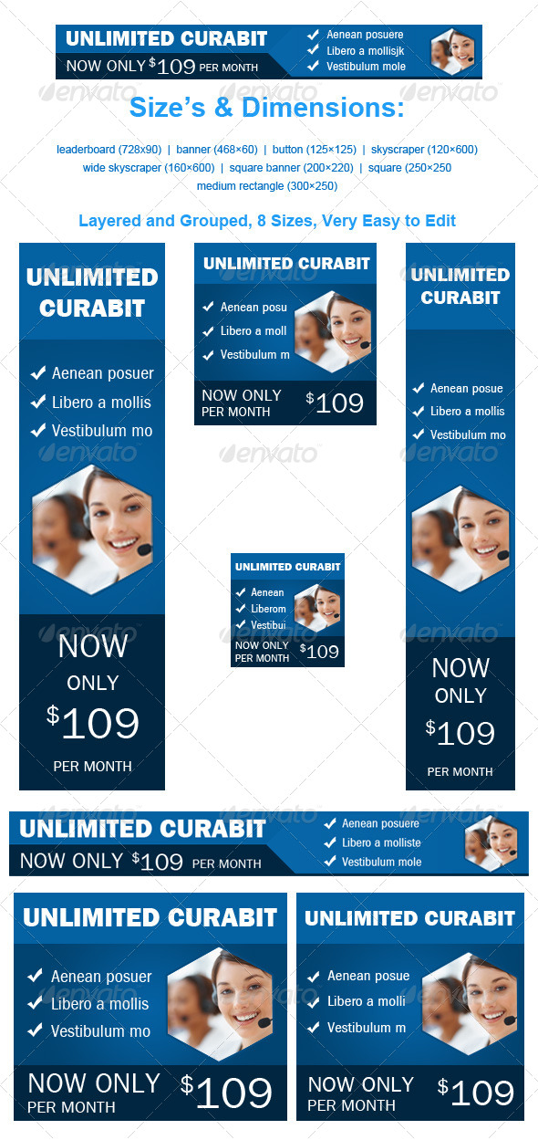 GraphicRiver Web Hosting Banner Unlimited Curabit 4083806