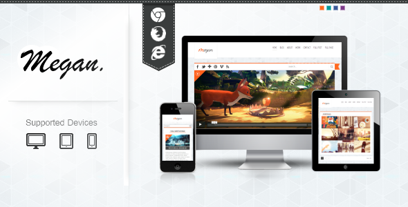 ThemeForest MEGAN Blog Responsive Template 3960448
