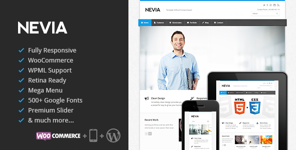 ThemeForest Nevia Responsive Multi-Purpose WordPress Theme 4118819