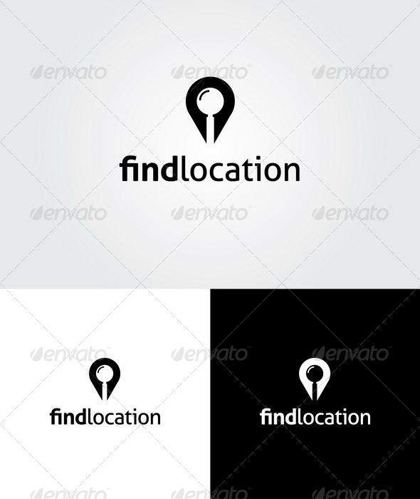 GraphicRiver Find Location Logo 4206614