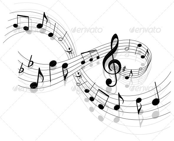 GraphicRiver Music Background 4206882