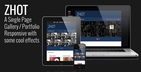 ThemeForest ZHOT Responsive HTML Gallery & Portfolio Blog 4167395