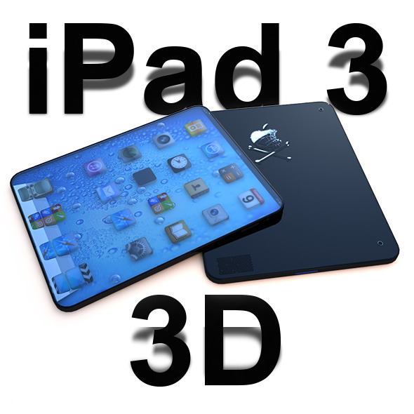 I Pad 3 3D - 3DOcean Item for Sale