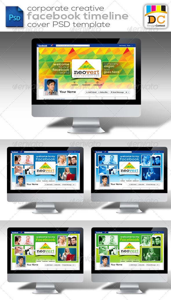 GraphicRiver NeoVert Corporate Facebook Timeline Cover 4206960