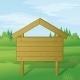 Download Vector Wood Sign on Summer Landscape