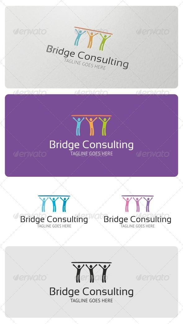 GraphicRiver Bridge Consulting Logo Template 4207734