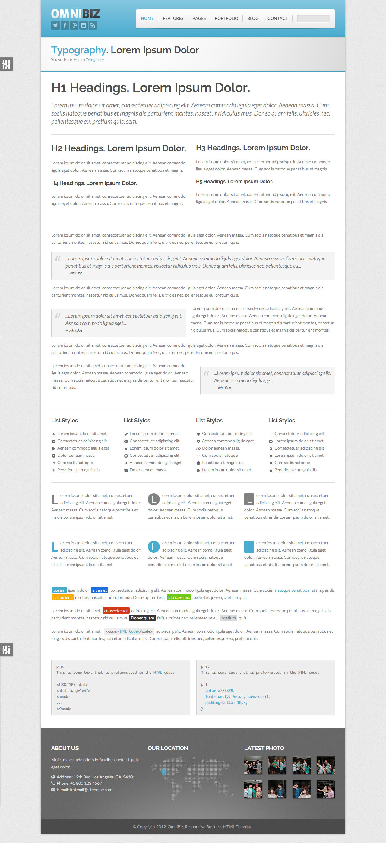 Omnibiz PSD Template for Business Site
