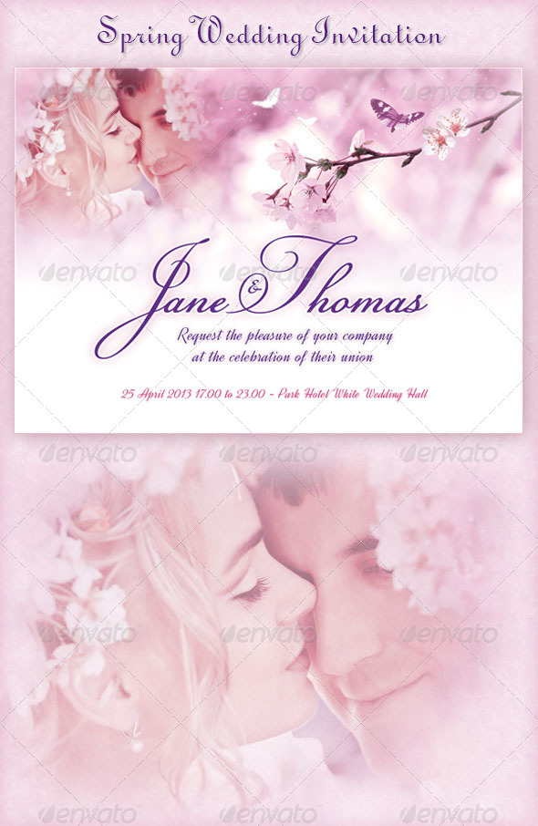 GraphicRiver Spring Wedding Invitation 4207907