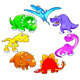 Dinosaurs Rainbow - GraphicRiver Item for Sale
