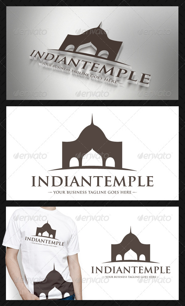 GraphicRiver Indian Architecture Logo Template 4207960