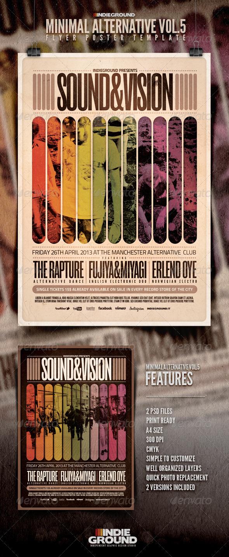 GraphicRiver Minimal Alternative Flyer Poster Vol 5 4208232