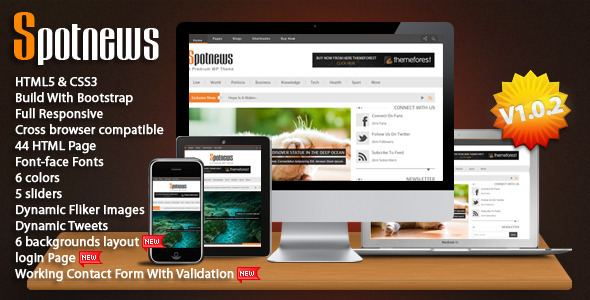 Spotnews - Multi-Purpose Responsive Template - Business Corporate