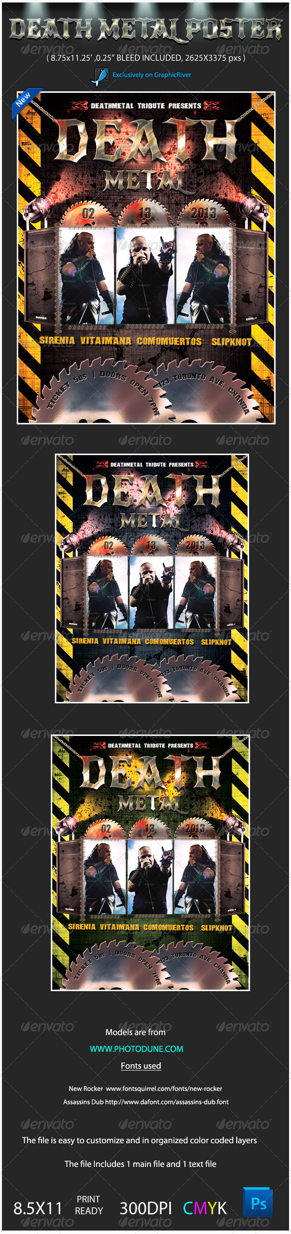 GraphicRiver Death Metal Music Poster Template 3975680