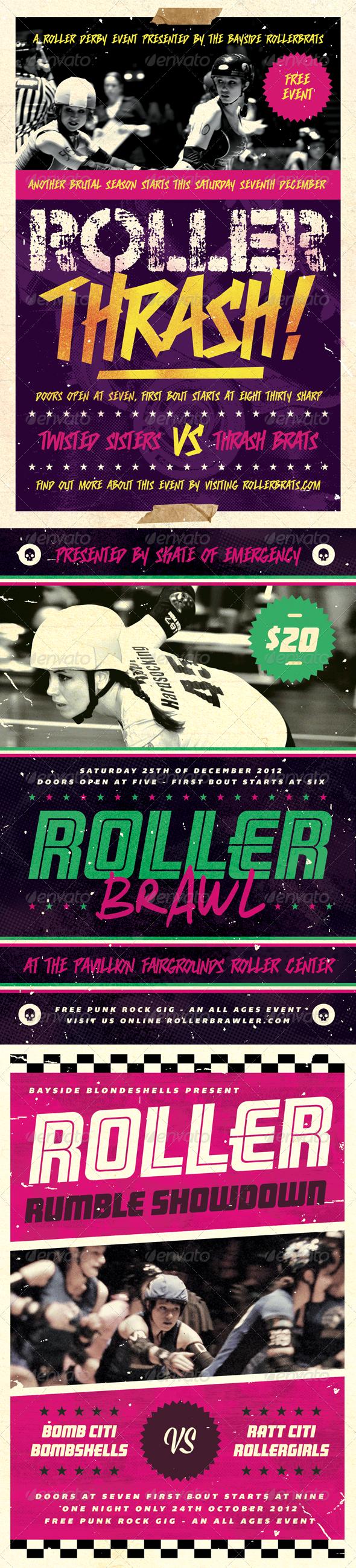 GraphicRiver Roller Derby Flyer Bundle Volume One 4208313