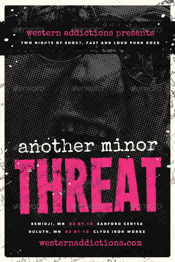 GraphicRiver Another Threat Punk Rock Flyer Template 4208429
