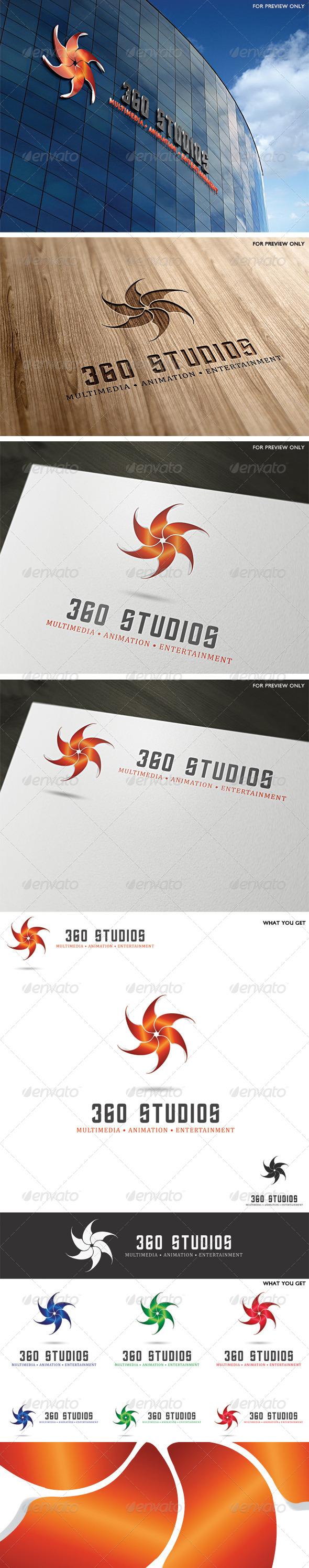 GraphicRiver 360 Studios Logo Template 4096252