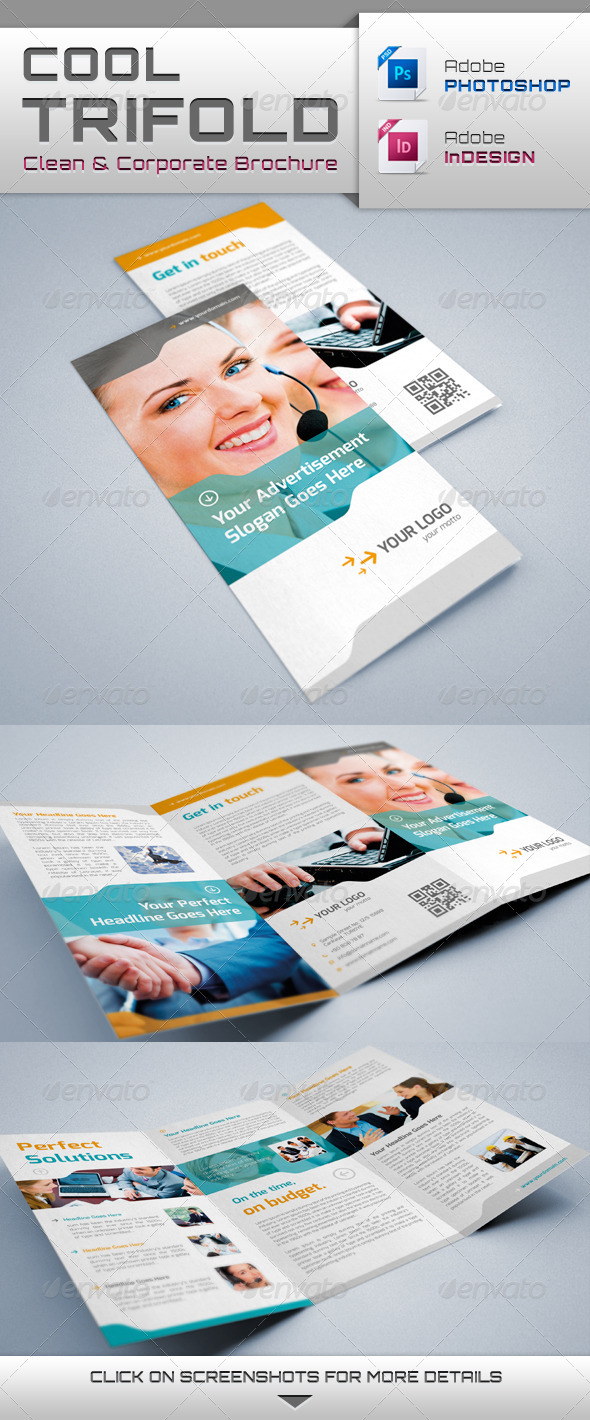GraphicRiver Cool Trifold Brochure 4208448