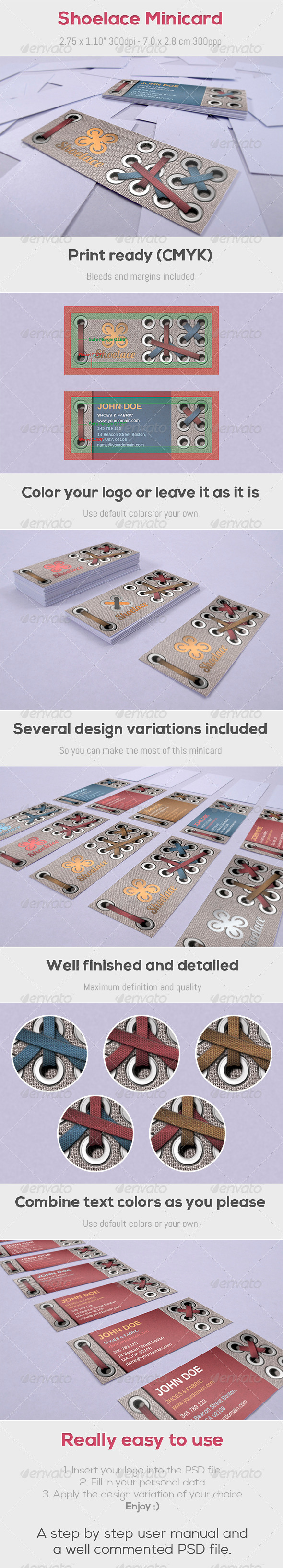 GraphicRiver Shoelace Minicard 4208499