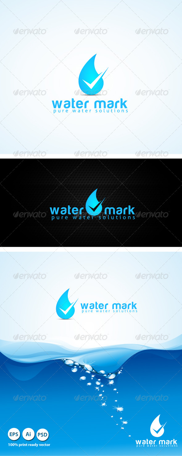 GraphicRiver Water Mark Logo 4208548