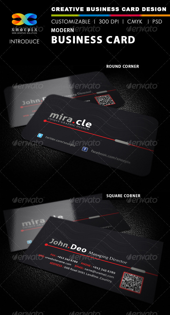 GraphicRiver Modern Business Card 4041694