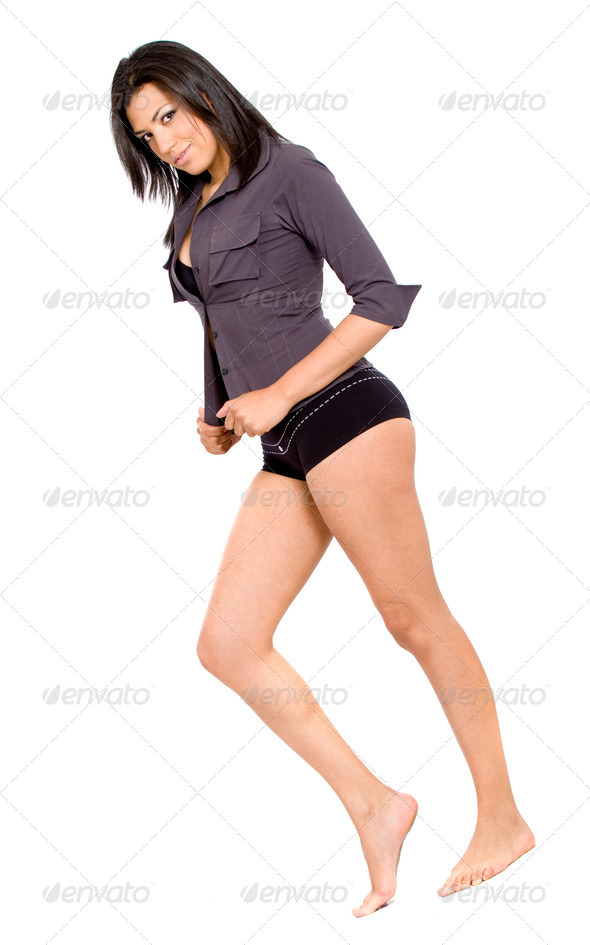 fashion girl in underwear - Stock Photo - Images