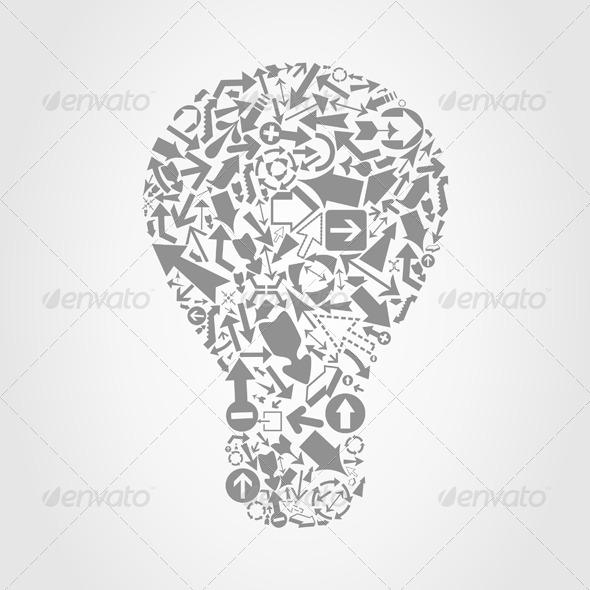 GraphicRiver Arrow a Bulb 4209521