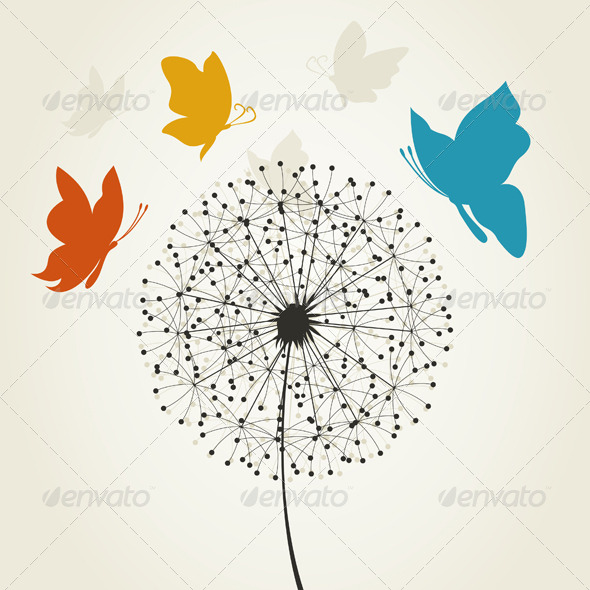 GraphicRiver Dandelion and the Butterfly 4209733
