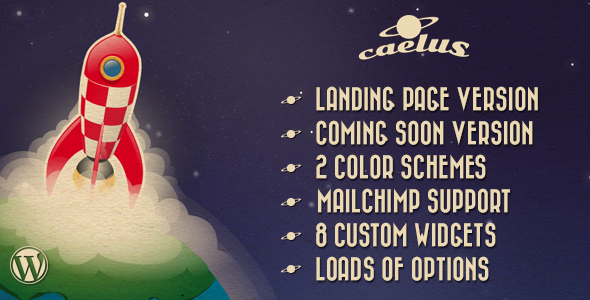 Caelus - App Landing & Coming Soon WP Theme  - Software Technology