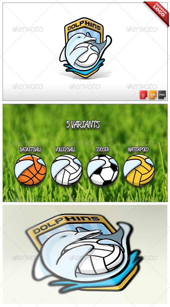 GraphicRiver Dolphins 4110403
