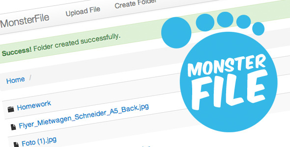 CodeCanyon MonsterFile Multi-User File Management 4210316