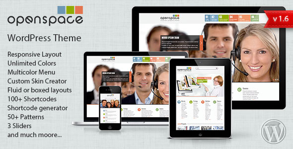 OpenSpace Responsive Mulipurpose Wordpress Theme - Corporate WordPress