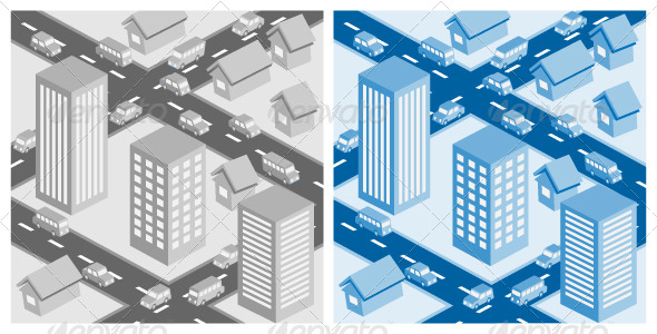 Decorative Cityscape EPS10 Vector Illustration