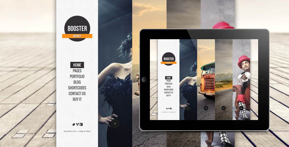BOOSTERIUS - Responsive one page slide WordPress theme - Creative WordPress