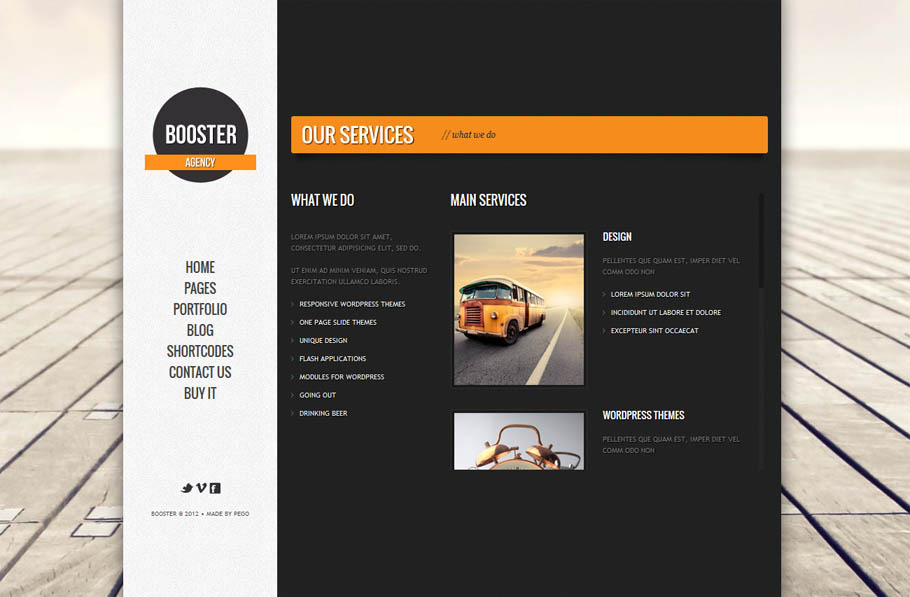 BOOSTERIUS - Responsive one page slide WordPress theme -