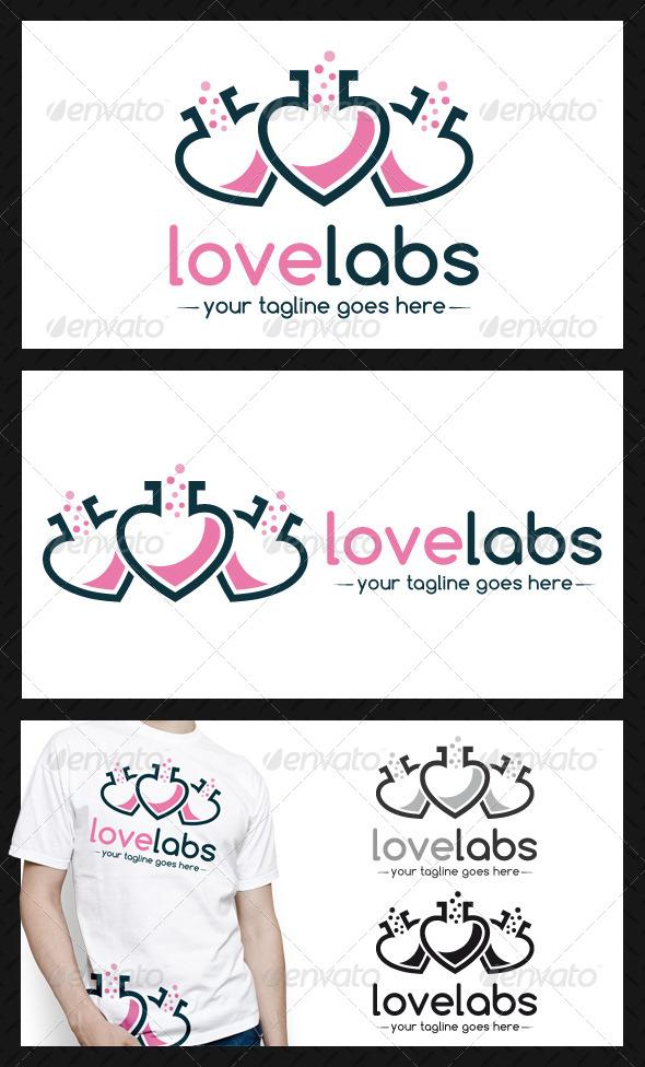 GraphicRiver Love Lab Logo Template 4211439