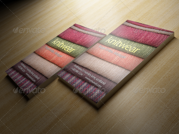 Knitwear Business Card Design - Business Cards Print Templates