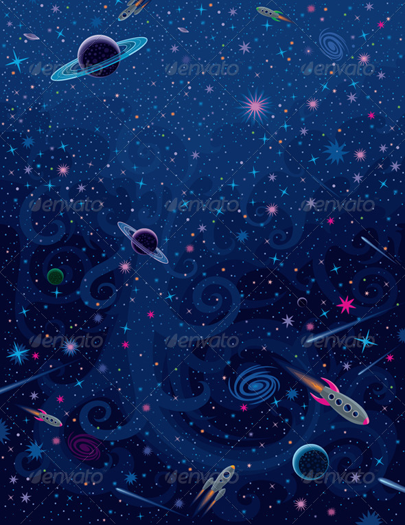 GraphicRiver Cosmic Bright Background 4211452