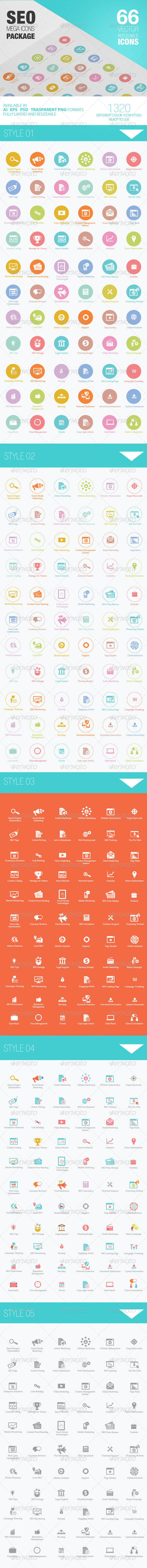 GraphicRiver Seo Mega Icons Pack 4098227