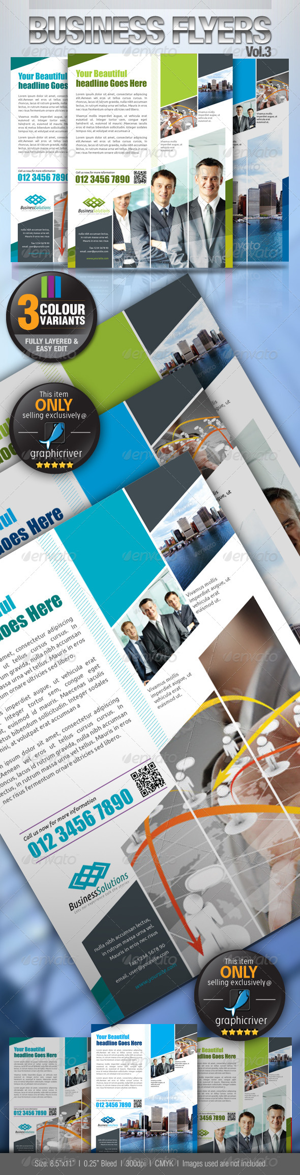 Simple & Clean Corporate Flyer Vol.3