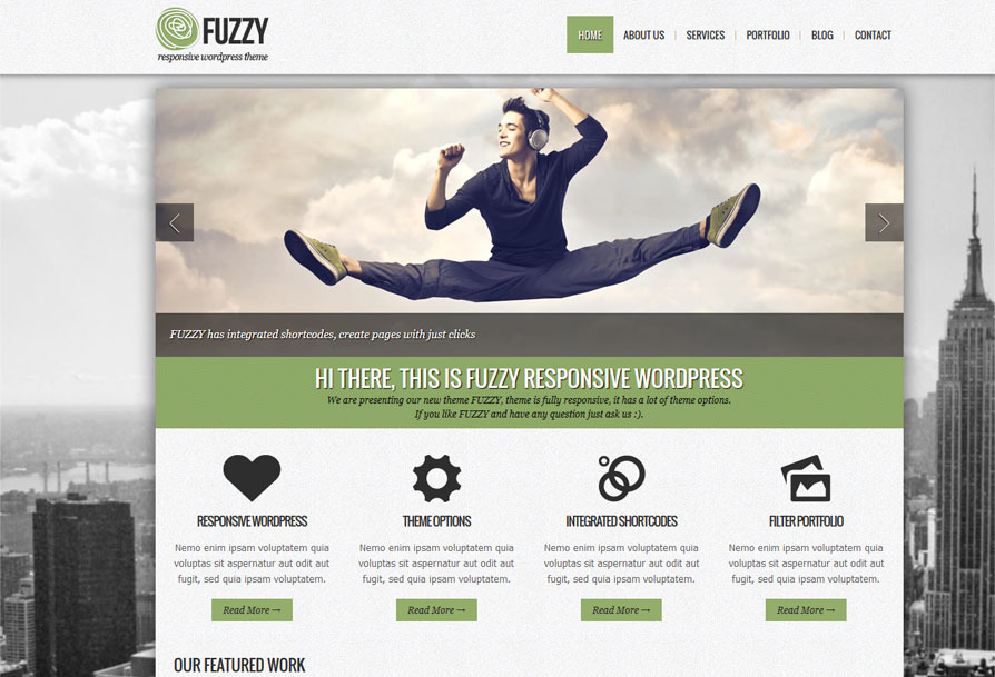 FUZZY - jQuery responsive wordpress theme -