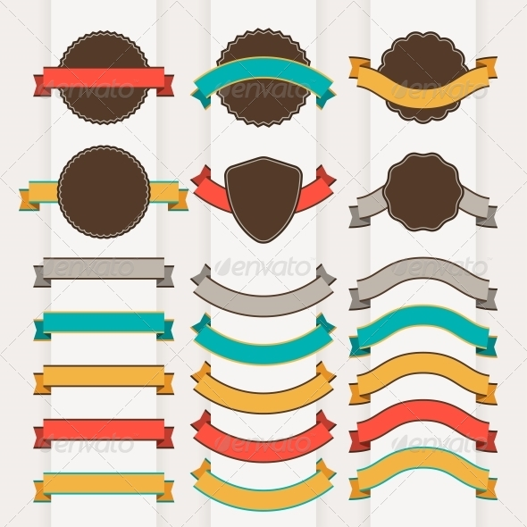 GraphicRiver Set of Retro Design Elements 4212357