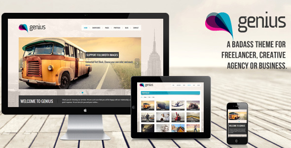 GENIUS - Responsive Wordpress Theme
