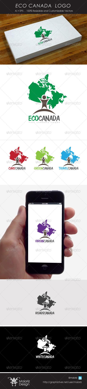 GraphicRiver Eco Canada Logo 4212619