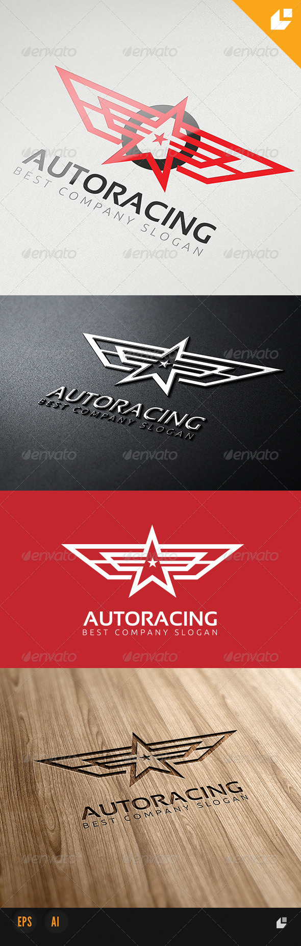 GraphicRiver Auto Racing Logo 4212713