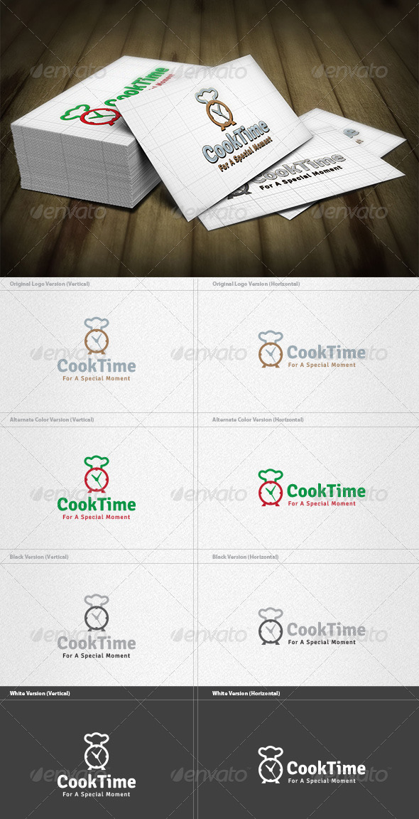 GraphicRiver Cook Time Logo 4212866
