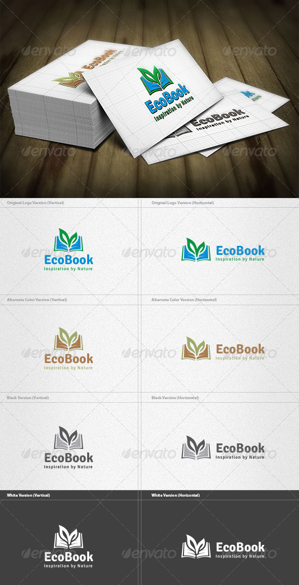 GraphicRiver Eco Book Logo 4212959